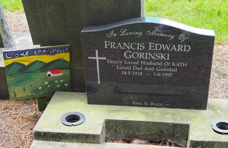 Headstone of Francis Gorinski.
