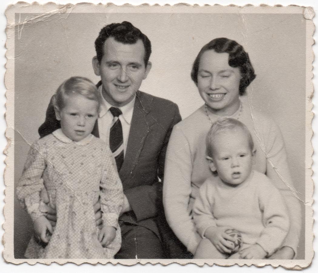 A studio  pic of Halina, George, Christine and Gary
