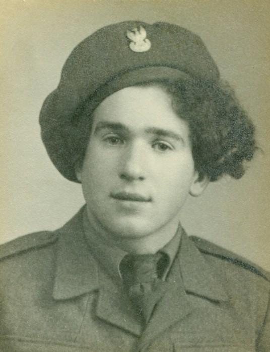 Bronisław  Bojanowski, studio pic as soldier