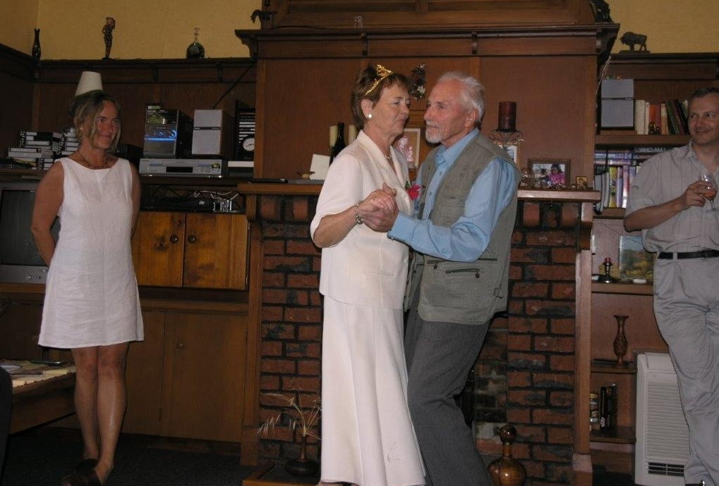Ela and Bronek  dancing at their 50th wedding anniversary celebration