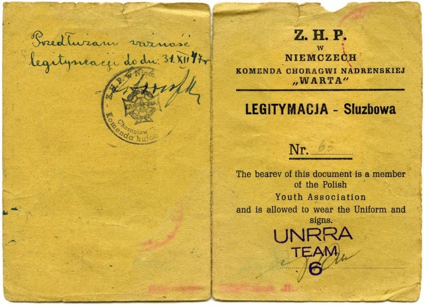 Janina  Bąbka's scout book's front page