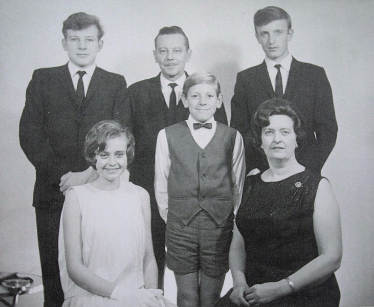 Studio  photograph of Iwanica family, Janina, Kazik and their four children