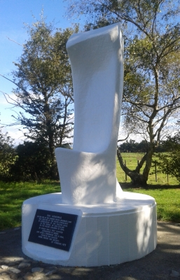 The new monument  outside Pahiatua
