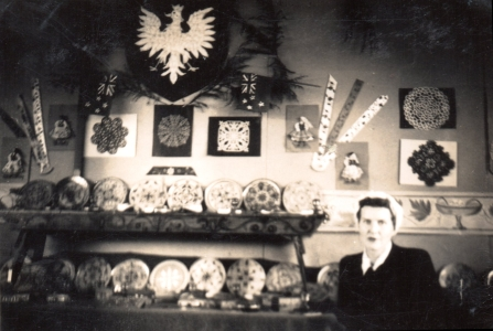 Mrs  Kalińska in her art room.
