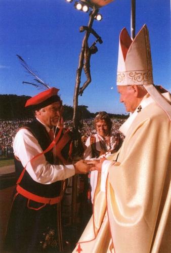 Jan Jarka with Pope  John Paul II