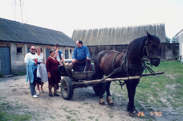 Jan in Poland with some  of his extended family