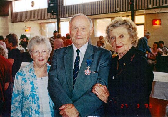 Jan Jarka with wife Stella  and Jadwiga after the Krzyż Kawalerski ceremony