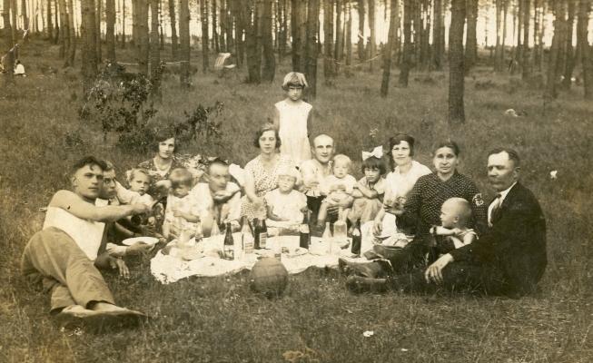 Family picnic in Poland