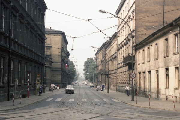Polish street in  Kraków