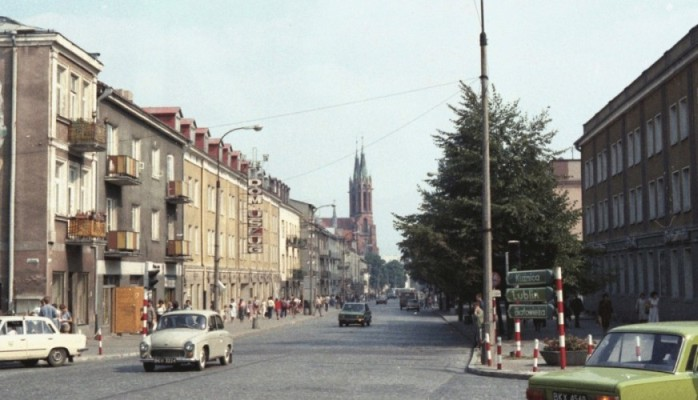 Street in  1980s Poland