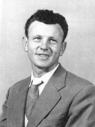 Studio photograph of  Joe Jagiełło as a young man