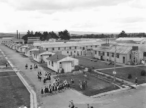 Aerial photograph  of Pahiatua camp