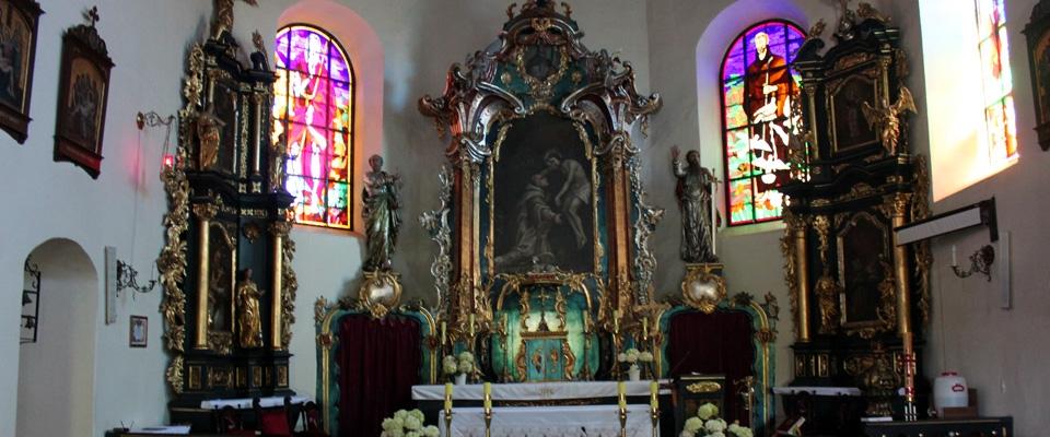 The Godziszewo  church's ornate altar