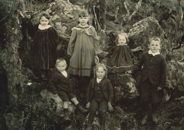 First six Crofskey children.