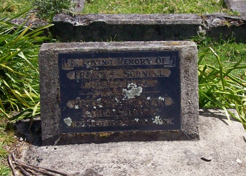 Frances Schnell and Mary Rose Ryan's shared headstone in Midhurst cemetery