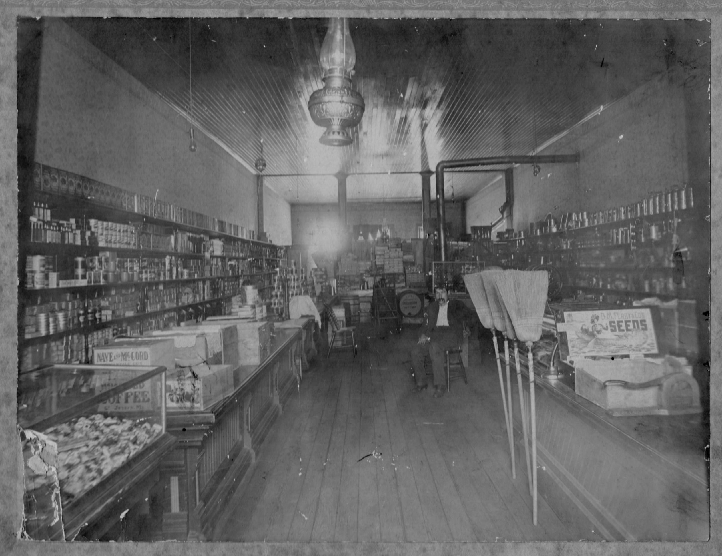 Frank Crofskey in his San Francisco shop circa 1900.