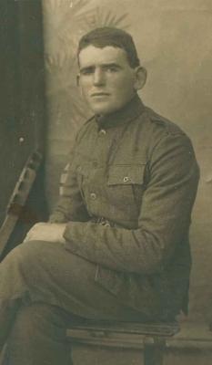 John Crofskey junior in WW1 uniform.