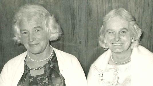 Lillian Raill and Mabel Autridge