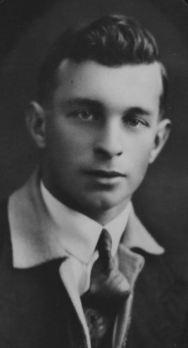 Portrait photograph of a  young Jack Luskie
