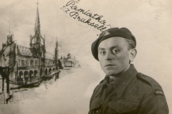 Antos Sarniak, back in uniform after liberation.