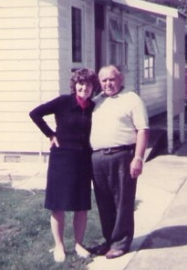Antos and Janina Sarniak, outside their house in Levin.