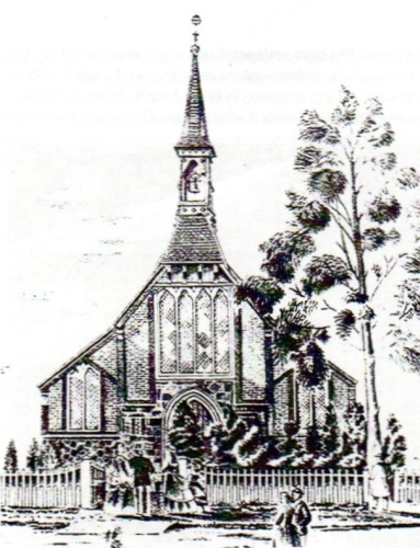 Sketch of   the Church of the Blessed Sacrament