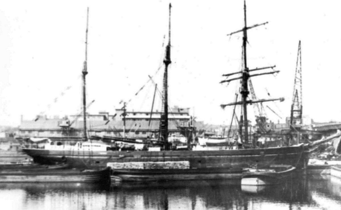 The ship Friedeburg in  unnamed harbour