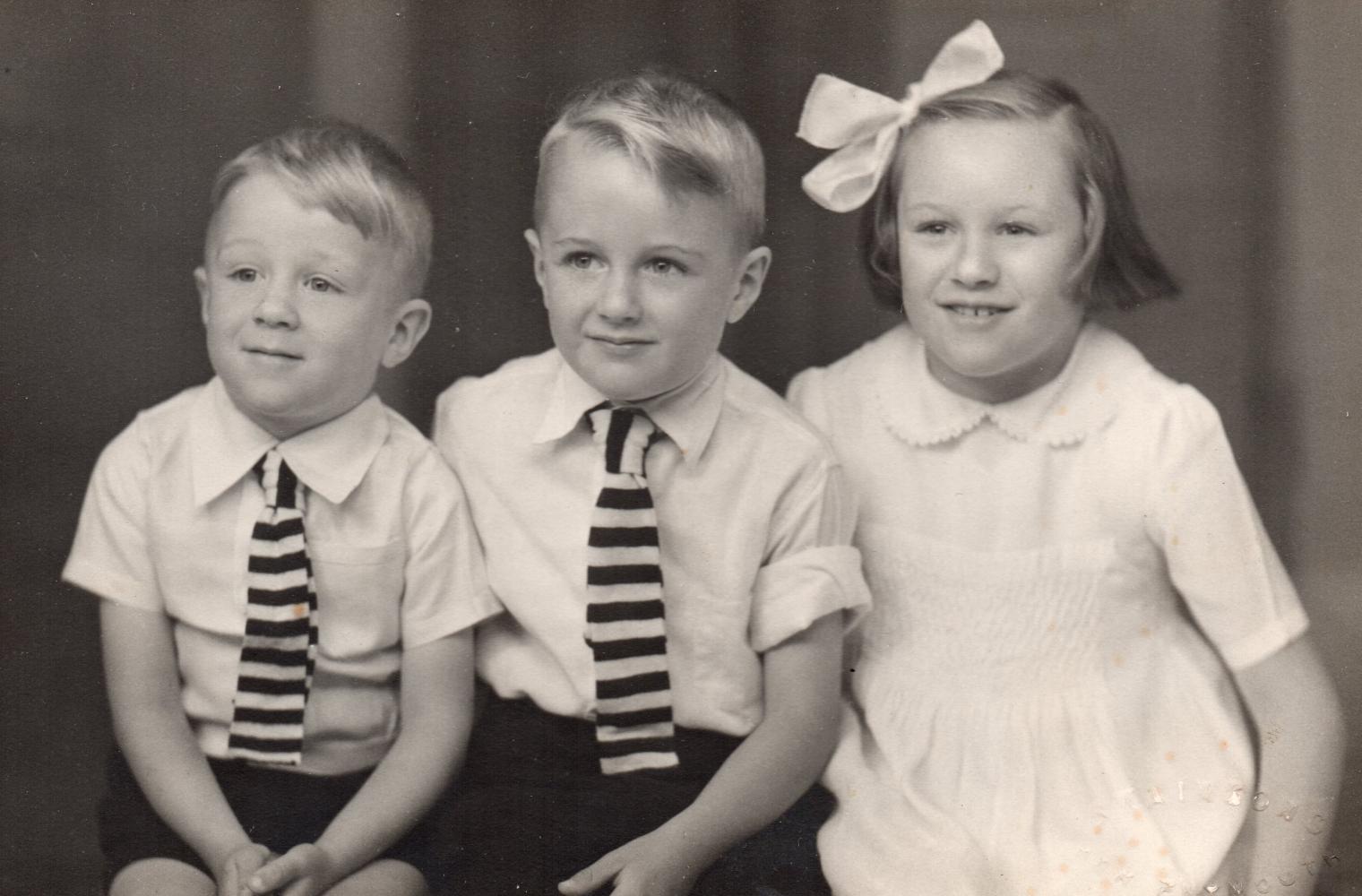 Studio phorograph of three Watembach siblings