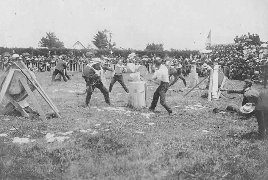 Joe in 1905  Axemen's Carnival