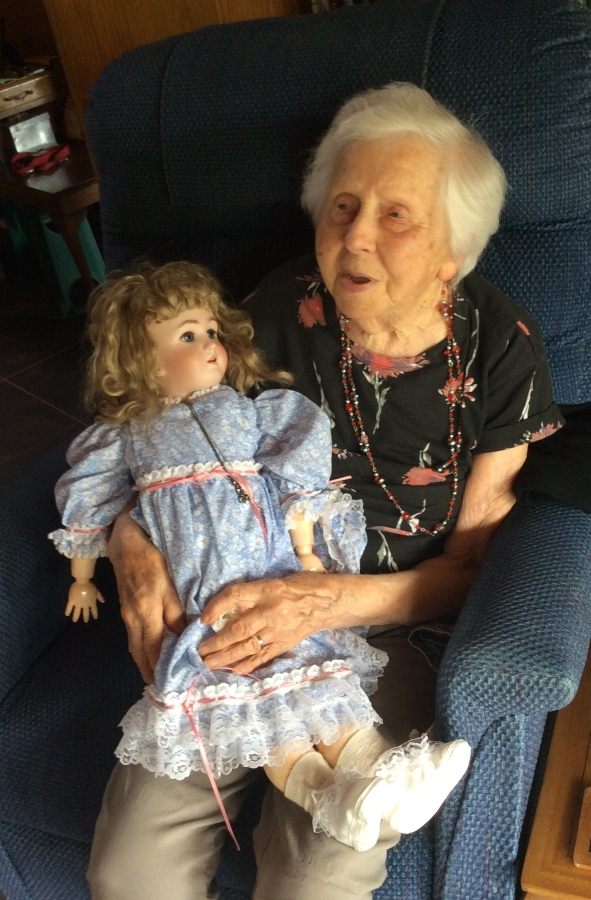Madeline Anderson  with doll