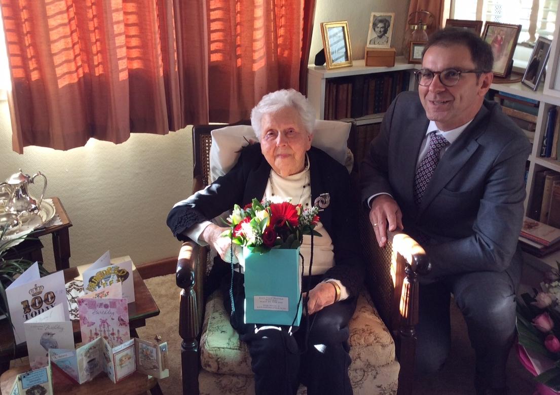 Madeline Orlowski Anderson with Polish ambassador Zbigniew Gniatkowski