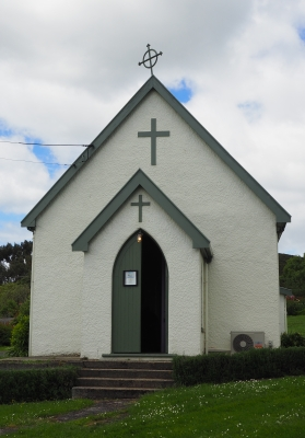 The former  Catholic church in Waihola, now in Broad Bay, Dunedin