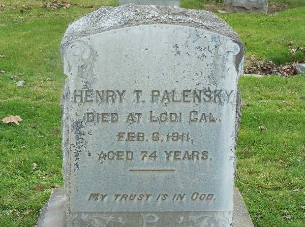 Headstone of Henry  Palensky