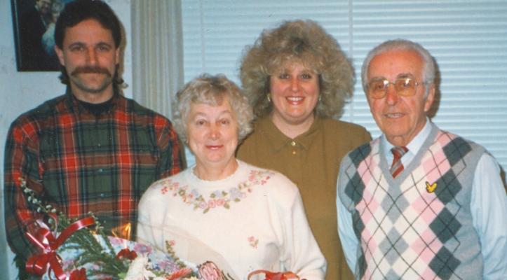 Anna, Władysław, Basia and Bogdan at Anna's 60th birthday