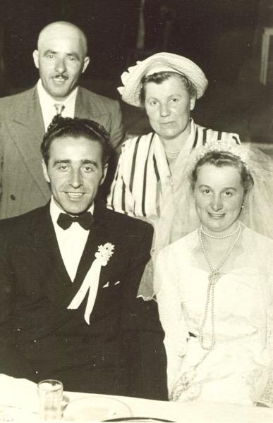 Anna and Władysław Piotrkowski with Anna's mother and stepfather