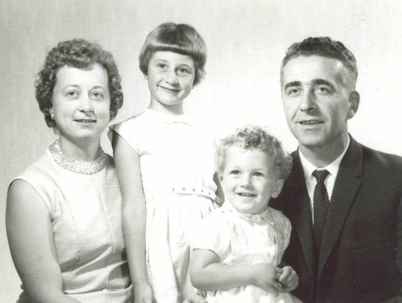 Piotrkowski family, Anna, Basia, Bogdan and Władysław