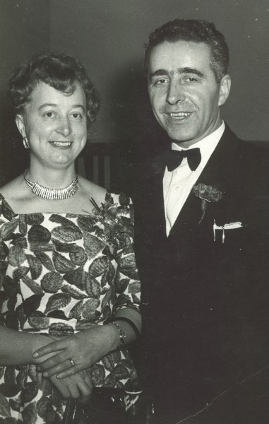 Władysław  and Anna at a Polish function