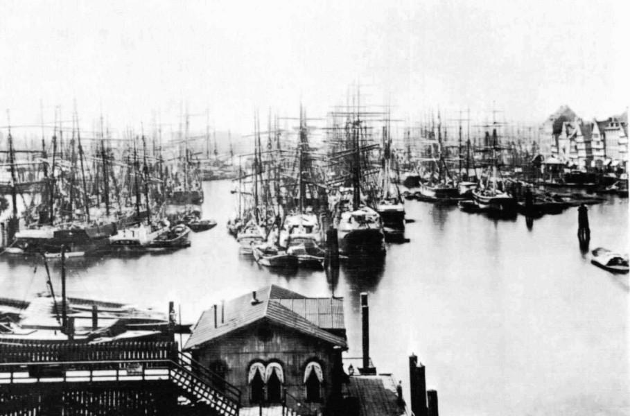 Hamburg harbour  1875