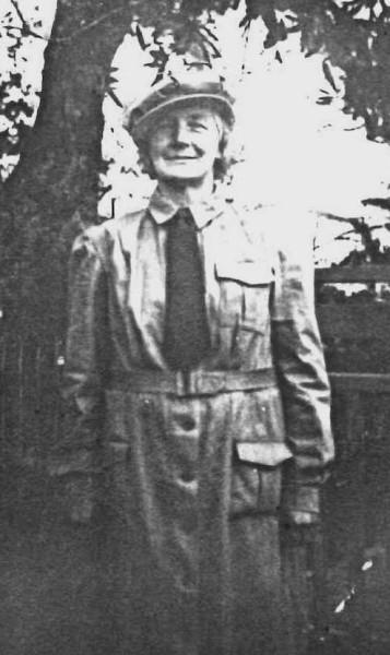Florinda  Voitre in WW2 EPS uniform