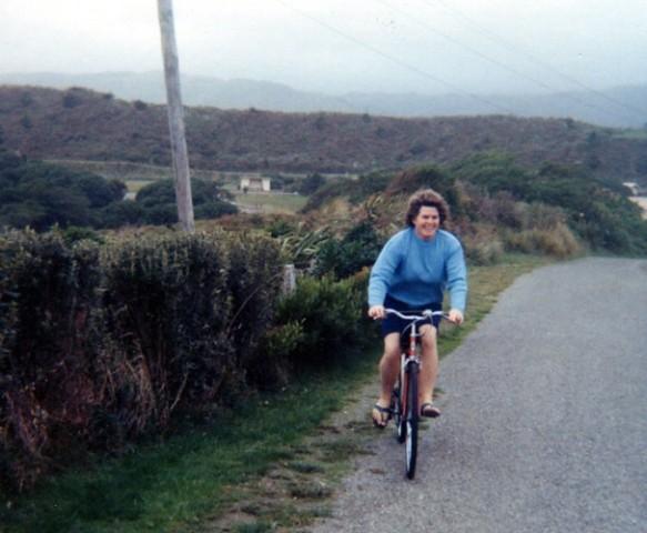 Wisia Watkins cycling  In Queen Elizabeth Park