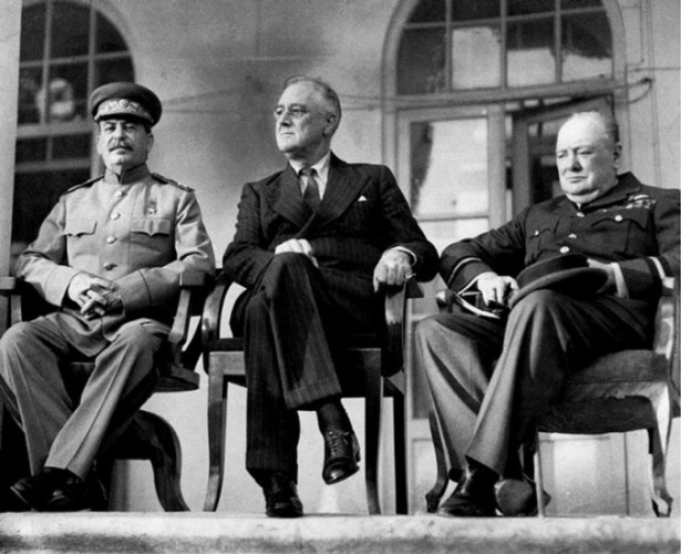 Stalin, Roosevelt,  Churchill at Tereran