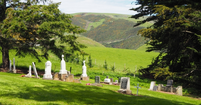 Part of the  cemetery, looking towards the south-west