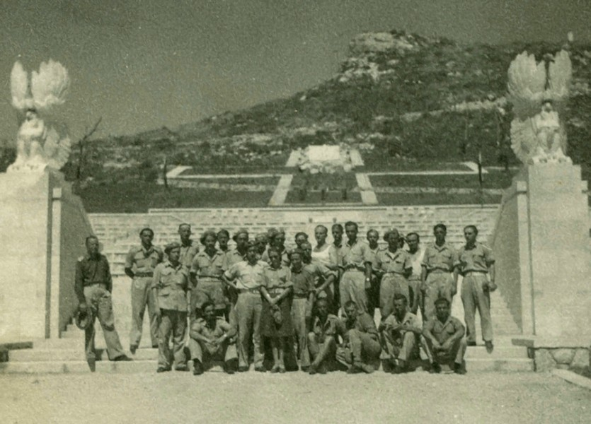Polish  soldiers at opening of Monte Cassino cemetery