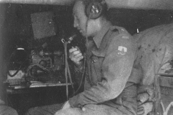 Polish  radio operator near Castel San Pietro