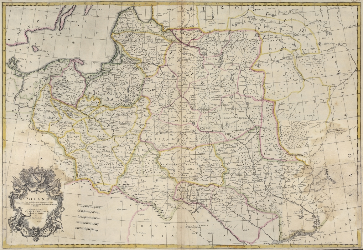 1712 map of Poland
