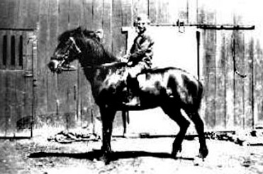 Victa  Schimanski on one of the family horses