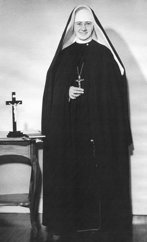 Sister Mary St Martha as novitiate