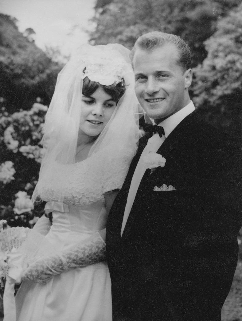 Joe and Heather Gratkowski, on their wedding day