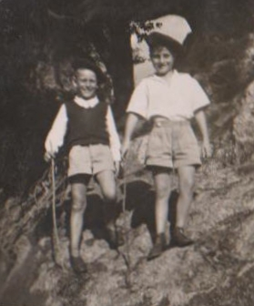 Joe  Gratkowski, right, with a friend in Tengeru