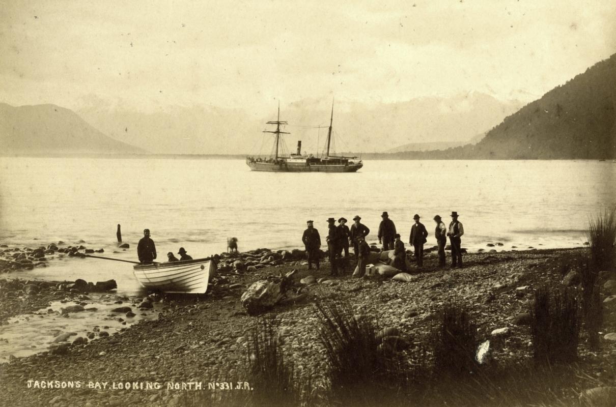 Jackson's Bay beach 1880